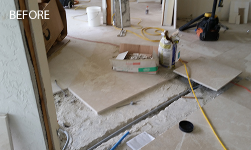 Limestone Floor Repairs