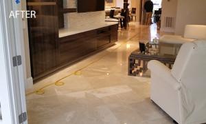 Restored Limestone Floor
